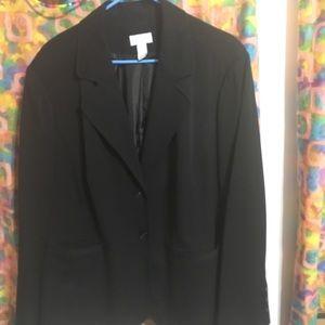 Charter Club women's black suit jacket